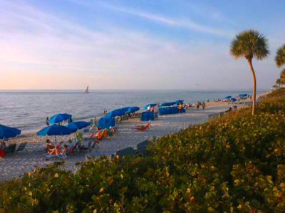 New Year's Eve 2012 at the Sandpiper beach in Pelican Bay Naples FL