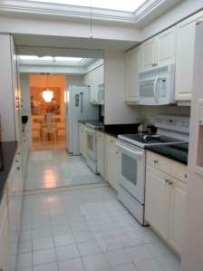 Kitchen has been newly redone with granite countertops and a backlit tray ceiling.