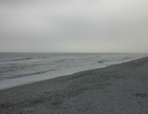 Even a cloudy evening didn't stop residents from coming to the beach in Pelican Bay!