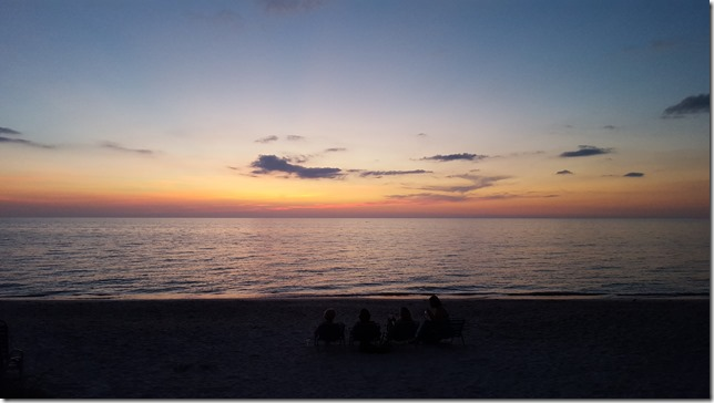 Sunset on Halloween 2015 Pelican Bay Naples FL