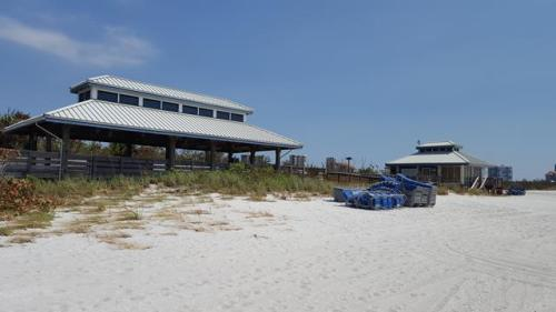 Sandbar beach in Pelican Bay Pavilion