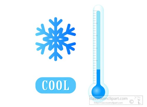 thermometer cold temp with snowflake clipart